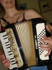 Susan and accordion