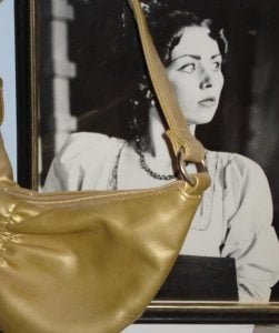 The girl and the gold bag