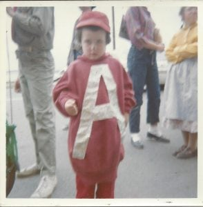 The author as Alvin the Chipmunk, 1963