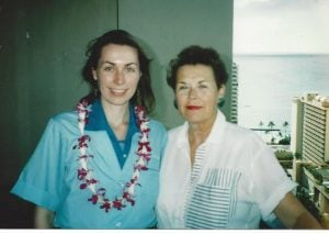 With Mom, before so much Red Tape